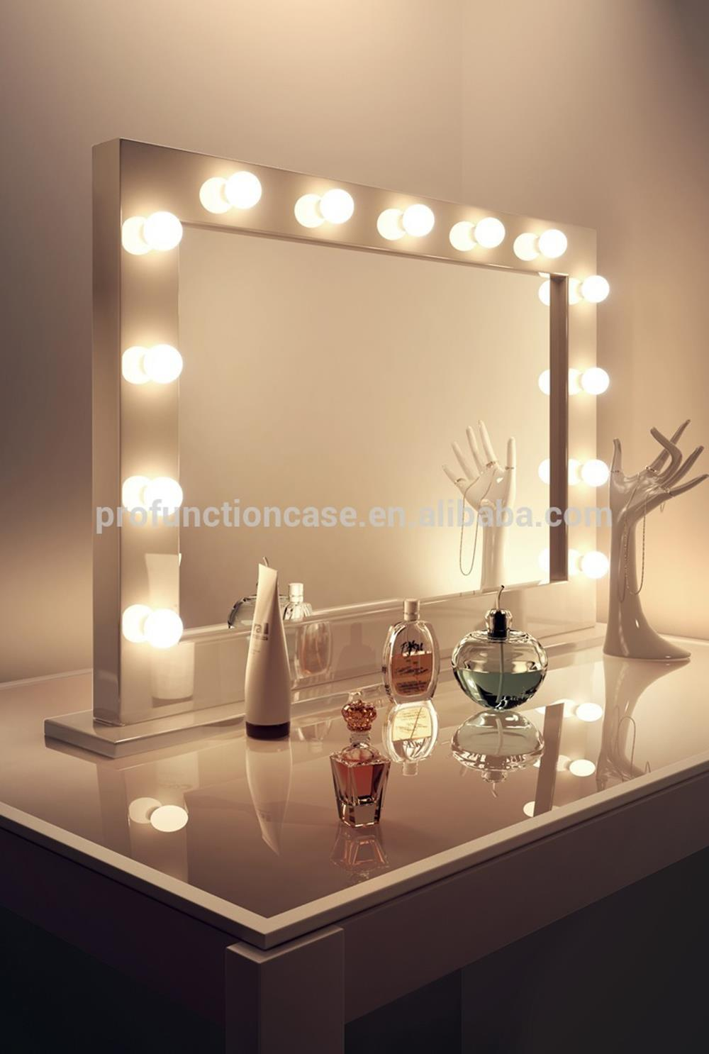 bedroom vanity set with lights around mirror 22 - gongetech