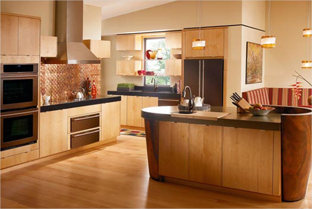 kitchen with maple cabinets color ideas 17 - Gongetech